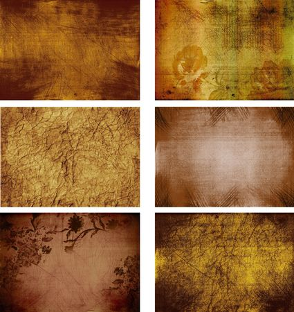 collection of grunge background textures Stock Photo - 5915886