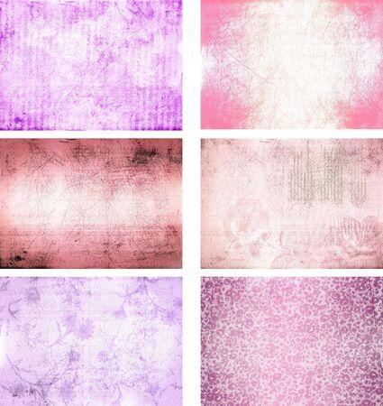 flor morada: colecci�n de texturas de fondo de grunge