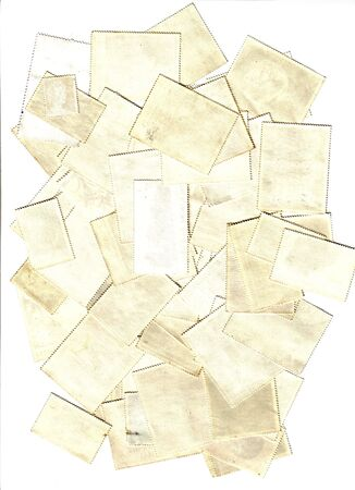 collection of blank post stamps Stock Photo - 5915687