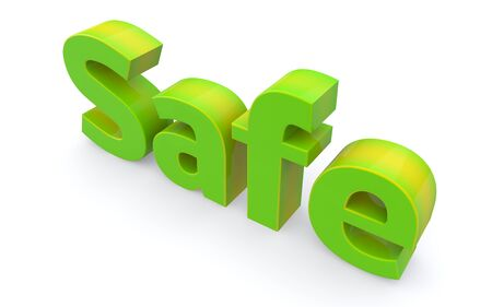 safeguarded: Word safe icon on a white background  3D illustration
