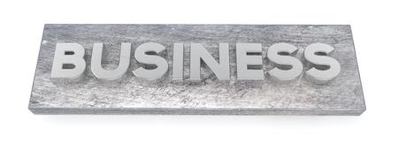 rigidity: Business, metal letters  3D illustration
