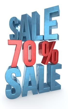 Concept of sale  Discount  percent off  3D illustration  illustration