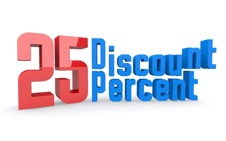 Concept of sale  Discount  percent off  3D illustration  illustration
