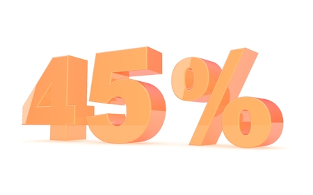 Discount percent off. 3D illustration. illustration