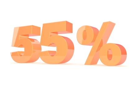 Discount percent off. 3D illustration. illustration