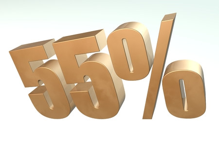 Discount percent off. 3D illustration illustration