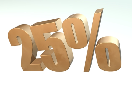 Discount percent off. 3D illustration illustration