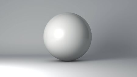 unbranded: White ball isolated. 3D illustration.