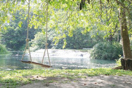 Swing  Waterfall Stock Photo