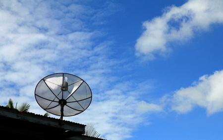 Satellitenschüssel Standard-Bild
