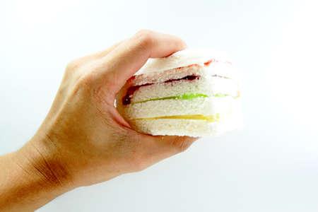 Sandwich bread left. photo
