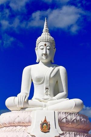 Buddha in a sitting position over the Pa Sak Dam Jolasid Thailand Stock Photo - 11679306