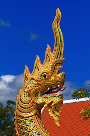 The head of the dragon statue at the Pa Sak Dam Jolasid Thailand Stock Photo - 11679311