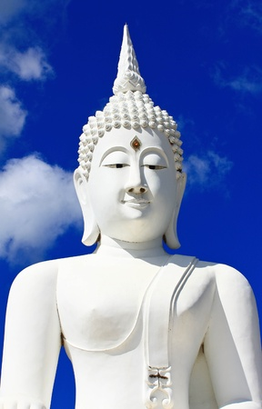 Buddha in a sitting position over the Pa Sak Dam Jolasid Thailand Stock Photo - 11679295