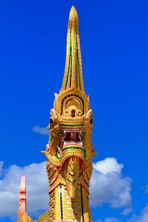 The head of the dragon statue at the Pa Sak Dam Jolasid Thailand Stock Photo - 11679302