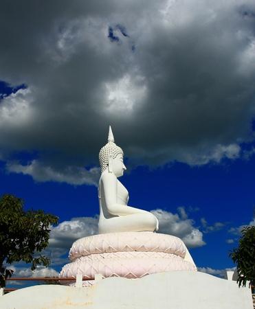 Buddha in a sitting position over the Pa Sak Dam Jolasid Thailand Stock Photo - 11679296