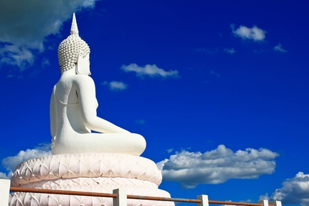 Buddha in a sitting position over the Pa Sak Dam Jolasid Thailand Stock Photo - 11679298