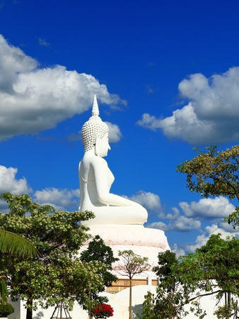 Buddha in a sitting position over the Pa Sak Dam Jolasid Thailand Stock Photo - 11679313