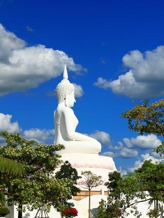 Buddha in a sitting position over the Pa Sak Dam Jolasid Thailand Stock Photo - 11679313