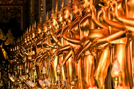 Buddha standing in a row Stock Photo - 19244211