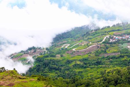 Winding Road on a hillside