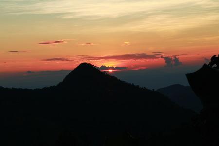 Sunshine on the mountain Standard-Bild