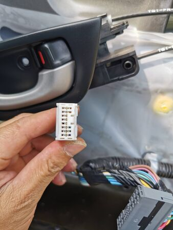 Car speaker plug Standard-Bild