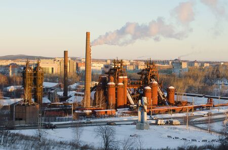 famous industries: Factory - a museum in Nizhniy Tagil in winter