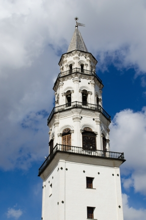 inclined: Inclined tower, constructed by Demidov in the city of Nevyansk   Russia Stock Photo