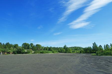 arbol de problemas: El problema ambiental. cantera de arena abandonada