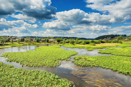 ural: The Chusovaya river in the vicinity of the village Staroutkinsk. Russia. Ural Stock Photo