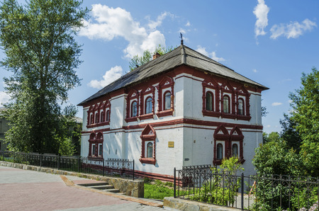 SOLIKAMSK,  PERM KRAI, RUSSIA - JULY 14, 2016: It is the oldest monument of civil architecture in the Urals. It was built in 1688