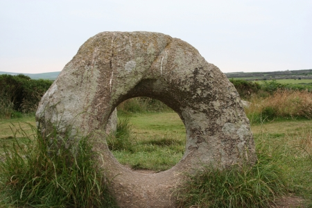 crick: Men An Tol Standing Stone
