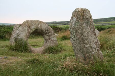 standing stone: Men An Tol Standing Stone