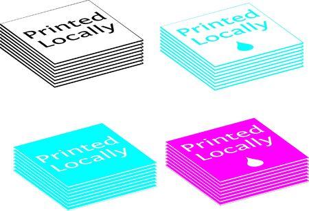 Lokaal afgedrukt Vector Illustratie