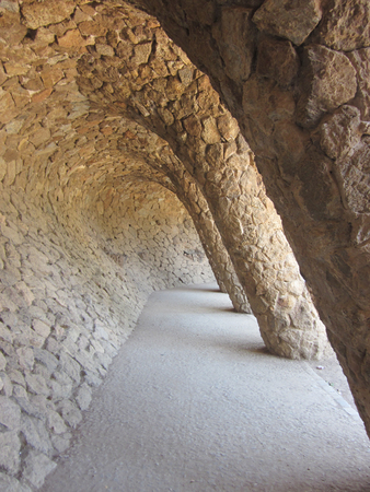 Gaudis Beautiful Park Guell in Barcelona, Spain photo
