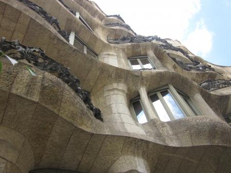 paseig: Gaudis La Pedrera in Barcelona, Spain