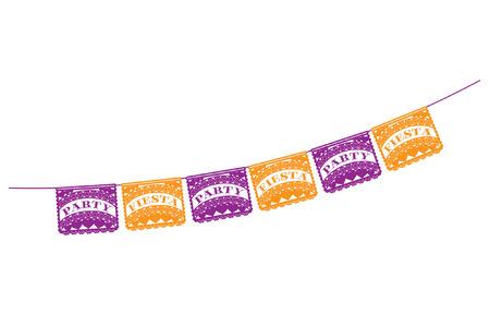 bandiera spagnola: Mexican Fiesta Partito Banner Vettoriali