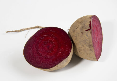 Rustic Organic Beetroot on White photo