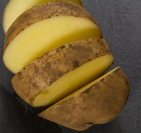 orla: Chooped organic potato on slate