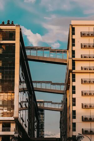 A bridges connecting two buildings