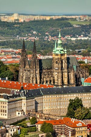 vitus: View of the Hradcany (Prague) and Cathedral of St. Vitus. Editorial