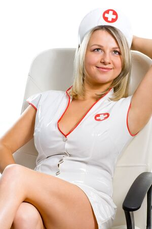 sexy female doctor: sexy young woman dressed as a nurse