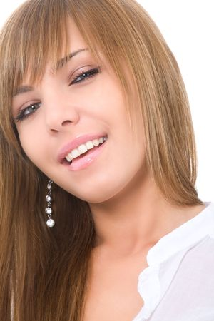 close-up portrait of attractive woman photo
