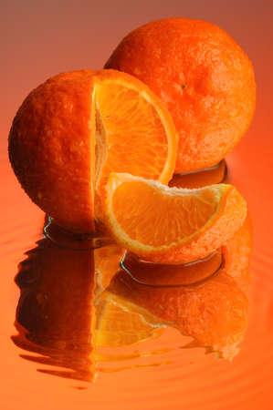 Orange and water Stock Photo