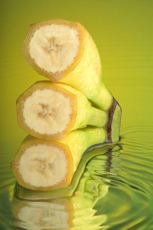 Banana and water