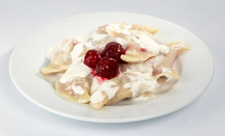 Dumplings with a cherry.