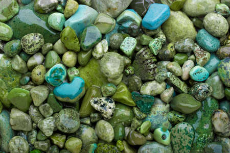 Background made of green pebbles.