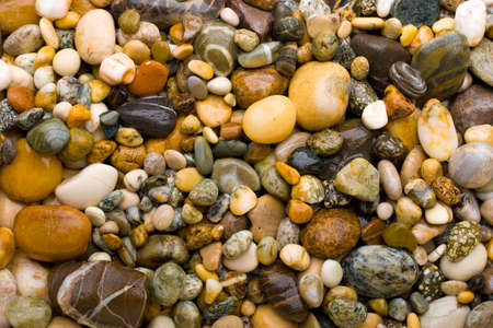 Background made of yellow pebbles.