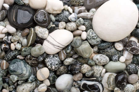 Background made of black and white pebbles.